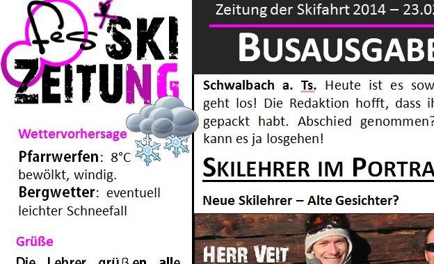 Tipps für die Klassenfahrt: Eine Skizeitung