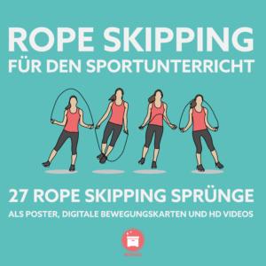 Rope Skipping Sportunterricht Stationskarten WIMASU