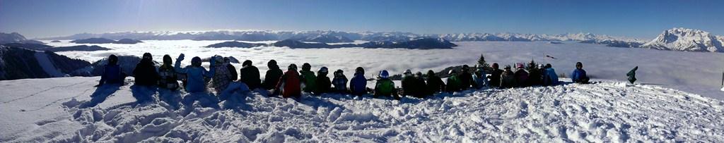 Ski-Formationsfahren