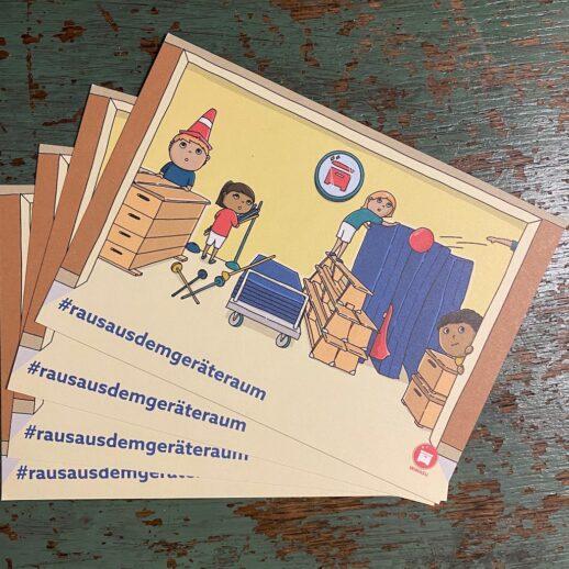 Wimasu Postkarten gegen Rassismus Schule