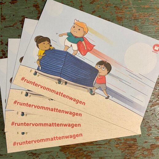 Wimasu Postkarten1 Mattenwagen Grundschule