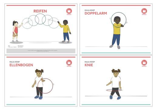 Reifen Sportunterricht Stationskarten Grundschule