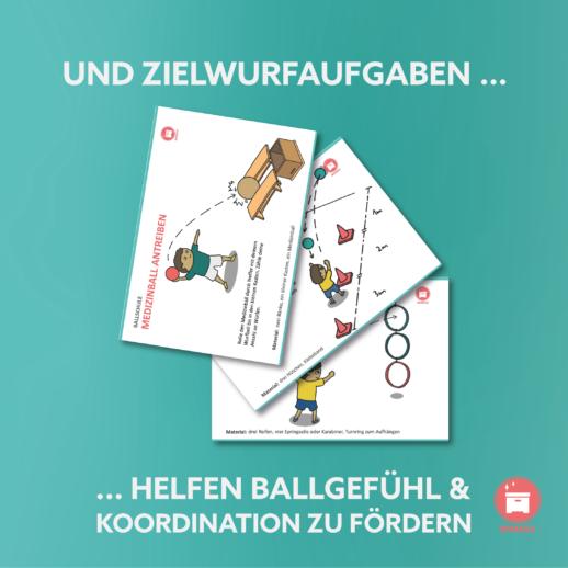 Ballschule Stationskarten Übungen Ballgeoehnung Wimasu Grundschule Sekundarstufe1