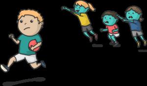 Zombieball Hinterherspringen als Variante by wimasu