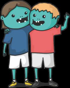Zwei Zombiepartner