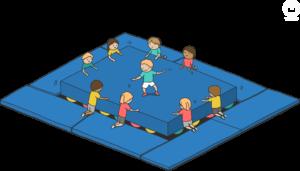 Sportunterricht Mattenspiele Wimasu Mattenrodeo