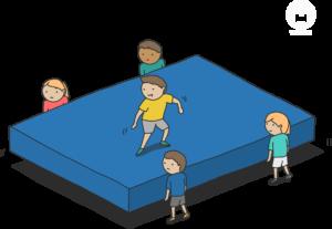 Sportunterricht Mattenspiele Wimasu