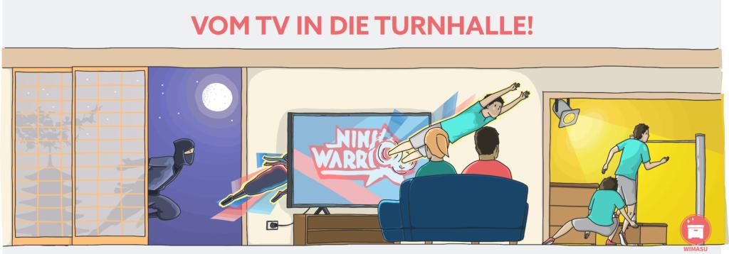 Comic style - Vom Ninja durch den TV in die Turnhalle by wimasu