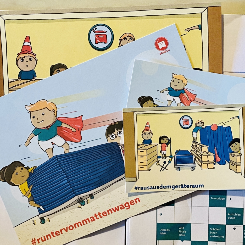 Sportunterricht Klassiker Postkarten Wimasu