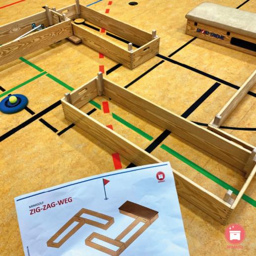 Minigolf im Sportunterricht Grundschule Stationen Wimasu 9