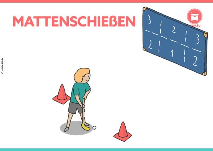 Unihockey Station für die Grundschule und Sekundarstufe 1 Torschuss