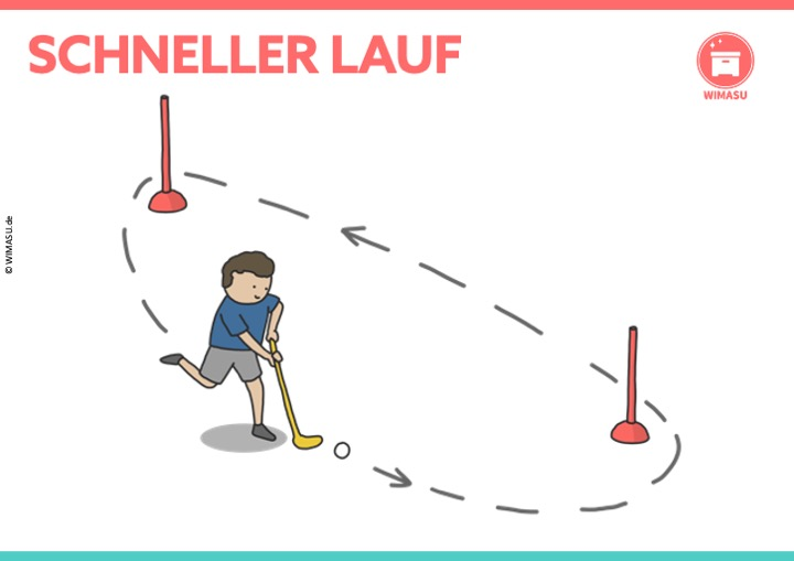 Unihockey Station für die Grundschule und Sekundarstufe 1 - Schnelles Laufen