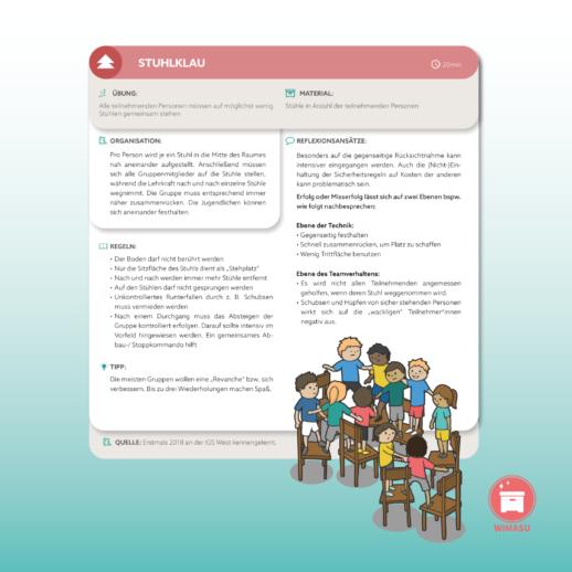 ZusammenWachsen Klassenteambuilding Kooperationsspiele Erlebnispädagogik WIMASU6